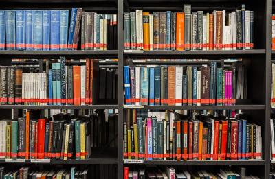 En bokhylla.