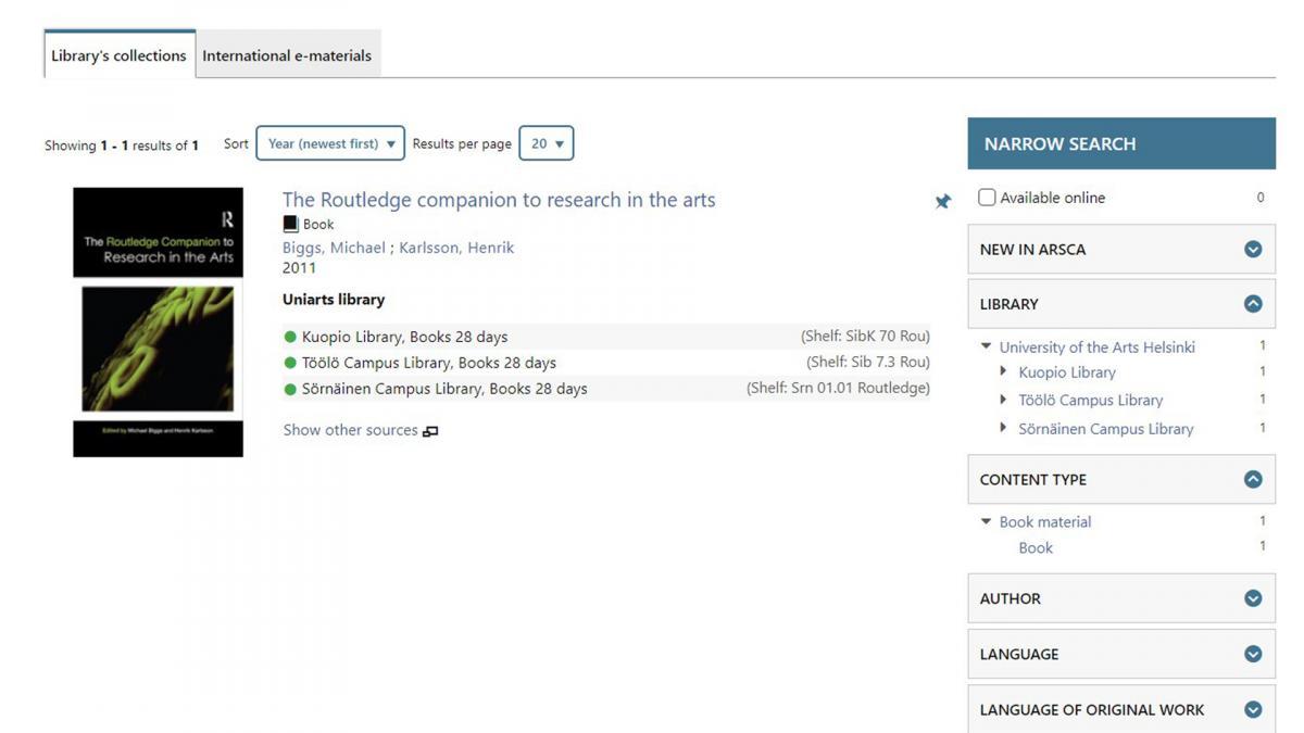 Screenshot from Arsca.