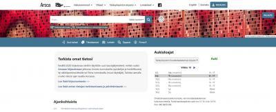 Kuvakaappaus verkkokirjasto Arscasta.